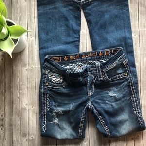Rock Revival Bootcut Kai Distressed Jeans